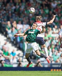 Hibernian's Farid El Alagui and Falkirk's Will Vaulks.<br /> Hibernian 0 v 1 Falkirk, William Hill Scottish Cup semi-final, played 18/4/2015 at Hamden Park, Glasgow.