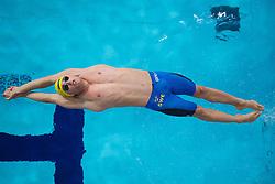 August 6, 2018 - Glasgow, UNITED KINGDOM - GUSTAV HOEKFELT of Sweden competes in the qualification of mixed 4x100 meter medley relay swimming during the European Championships on August 6, 2018 in Glasgow. (Credit Image: © Joel Marklund/Bildbyran via ZUMA Press)