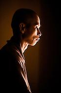 Portrait of a Buddhist monk, Ho Chi Minh city, Vietnam.