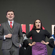 West End Kids on stage at West End Live on June 17 2018  in Trafalgar Square, London.