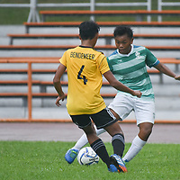 Toa Payoh Stadium, Tuesday, March 27, 2018 — St. Joseph's Institution (SJI) left it late but eventually completed their comeback win to defend their South Zone C Division Football title with a 3-1 win over Bendemeer Secondary (BDM). Story: https://www.redsports.sg/2018/03/28/south-zone-c-div-football-sji-bendemeer-final/