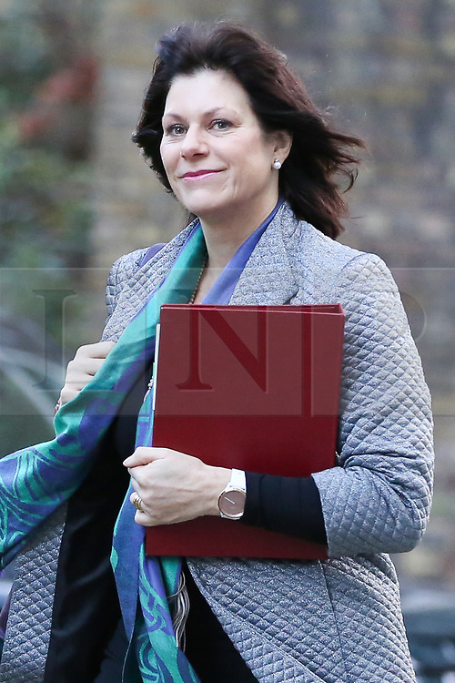 © Licensed to London News Pictures. 08/01/2019. London, UK. Claire Perry - Minister of State at Department for Business Energy and Industrial Strategy arrives in Downing Street for the weekly Cabinet meeting. Photo credit: Dinendra Haria/LNP