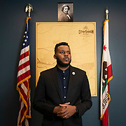 Mayor Michael Tubbs poses for a portrait in his office at city hall in Stockton, Calif. on September 9, 2020.