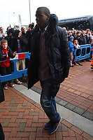 Football - Premier League - Bolton Wanderers vs. Tottenham Hotspur<br /> Fabrice Muamba of Bolton arrives at the Reebok Stadium