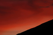 Ecuador, May 26 2010: View of the sunset from the grounds of Hacienda San Agustin. Copyright 2010 Peter Horrell