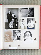 open page of a family photo album Japan Asia 1940s