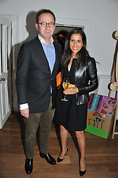SAMUEL & NAJET JOAB at a dinner hosted by Marlon and Nadya Abela in aid of Kids Company at Morton's, Berkeley Square, London on 25th September 2012.