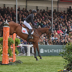 Tim Price Badminton horse trials Gloucester England UK May 2019 equestrian eventing representing New Zealand riding Ringwood Sky Boy in the Badminton Horse trials 2019 Badminton Horse trials 2019 Winner Piggy French wins the title
