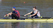 Caversham  Great Britain.<br /> Left, Jamie COPUS and Charles WAITE-ROBERTS<br /> 2016 GBR Rowing Team Olympic Trials GBR Rowing Training Centre, Nr Reading  England.<br /> <br /> Tuesday  22/03/2016 <br /> <br /> [Mandatory Credit; Peter Spurrier/Intersport-images]