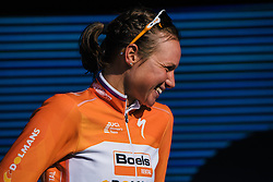 A happy champion, Chantal Blaak - Ronde van Drenthe 2016, a 138km road race starting and finishing in Hoogeveen, on March 12, 2016 in Drenthe, Netherlands.