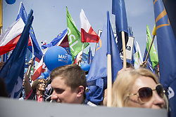 May 6, 2017 - Warsaw, Poland - People during Pro European march in Warsaw on May 6, 2017. (Credit Image: © Maciej Luczniewski/NurPhoto via ZUMA Press)