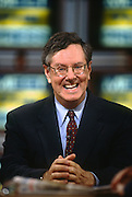 Billionaire and Republican presidential candidate Steve Forbes appears on NBC's Meet the Press talk show May 26, 1996 in Washington, DC.
