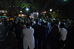 November 2, 2018 - Ankara, Turkey - Turkish doctors take part in a protest against violence in healthcare in Ankara, Turkey on November 2, 2018. 'We started this watches as a part of protests in response to the Turkish government's new draft law that will leave thousands of medical workers unemployed, instead of protecting us against violence in hospitals', a doctor said to the photographer during the protest. (Credit Image: © Altan Gocher/NurPhoto via ZUMA Press)