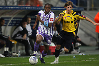 Fotball<br /> Frankrike<br /> Foto: Dppi/Digitalsport<br /> NORWAY ONLY<br /> <br /> FOOTBALL - FRENCH CHAMPIONSHIP 2007/2008 - L1 - FC SOCHAUX v TOULOUSE FC - 07/10/2007 - ALBIN  EBONDO (TOU) / VALTER BIRSA (SO)