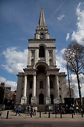 Christ Church Spitalfields. Built between the years 1714 and 1729, designed by architect Nicholas Hawksmoor.