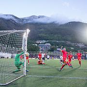ANDORRA LA VELLA, ANDORRA. June 1.  Wissam Ben Yedder #22 of France shoots during the Andorra V France 2020 European Championship Qualifying, Group H match at the Estadi Nacional d'Andorra on June 11th 2019 in Andorra (Photo by Tim Clayton/Corbis via Getty Images)