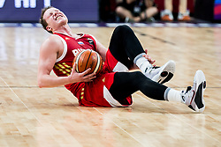 Dmitrii Kulagin of Russia injured during basketball match between National Teams of Greece and Russia at Day 14 in Round of 16 of the FIBA EuroBasket 2017 at Sinan Erdem Dome in Istanbul, Turkey on September 13, 2017. Photo by Vid Ponikvar / Sportida