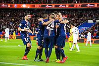 Joie Gregory VAN DER WIEL / groupe PSG - 28.04.2015 - Paris Saint Germain / Metz - Match en retard - 32eme journee Ligue 1<br />Photo : Nolwenn Le Gouic / Icon Sport