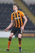 Reece Burke  during the EFL Sky Bet League 1 match between Hull City and Rochdale at the KCOM Stadium, Kingston upon Hull, England on 2 March 2021.