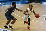 Basketball: Deutschland, 1. Bundesliga, Hamburg Towers - HAKRO Merlins Crailsheim, Hamburg, 10.01.2021<br /> TJ Shorts (Towers, r.)<br /> © Torsten Helmke