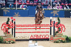 Rozier Philippe, FRA, Reveur de Kergane<br />  The Shelley Ashman International Ltd, EM Rogers (Transport) Ltd Father Christmas Stakes<br /> Olympia Horse Show -London 2016<br /> © Hippo Foto - Jon Stroud<br /> 17/12/16