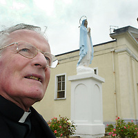 Canon Caimin O'Carroll(parish priest) of Our Lady's Pastrol Council who are campaigning for the retention of Our Lady's Church for the growing Community pictured at the Church in Barefield on Saturday. Pic. Brian Arthur/ Press 22.