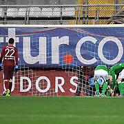 Werder Bremen's players celebrate goal during their Tuttur.com Cup matchday 2 soccer match Trabzonspor between  Werder Bremen at Mardan stadium in AntalyaTurkey on 07 Monday January, 2013. Photo by Aykut AKICI/TURKPIX