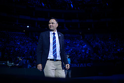 November 17, 2017 - London, England, United Kingdom - Swedish ATP chair umpire Mohamed Lahyani makes his way to the centre court of the O2 Arena, on day five of Nitto ATP World Tour Finals. (Credit Image: © Alberto Pezzali/NurPhoto via ZUMA Press)