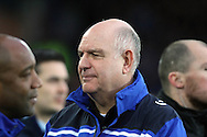 Dagenham & Redbridge Manager John Still  looks on prior to kick off. The Emirates FA cup, 3rd round match, Everton v Dagenham & Redbridge at Goodison Park in Liverpool on Saturday 9th January 2016.<br /> pic by Chris Stading, Andrew Orchard sports photography.