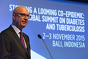 The Executive Director of The Union, José Luis Castro, speaks at the opening of the global summit on diabetes and tuberculosis in Bali, Indonesia, on November 2, 2015.<br /> The increasing interaction of TB and diabetes is projected to become a major public health issue. The summit gathered a hundred public health officials, leading researchers, civil society representatives and business and technology leaders, who committed to take action to stop this double threat. (Photo: Rodrigo Ordonez for The Union)