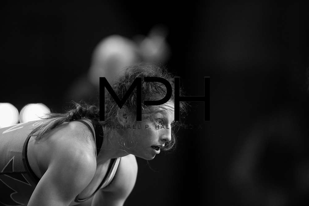 Athletes compete in the Freestyle Wrestling Canada Olympic Trials ahead of the 2020 Tokyo Olympics in Niagara Falls, ON on Friday, December 6, 2019. Wrestling Canada/Dante DiBenedetto