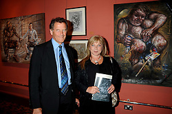 HELEN LEDERER and her husband CHRIS BROWNE at a private view of work by Sacha Newley entitled 'Blessed Curse' in association with the Catto Gallery held at the Arts Club, Dover Street, London W1 on 2nd July 2008.<br /><br />NON EXCLUSIVE - WORLD RIGHTS