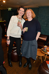 Left to right, THOMASINA MIERS and MARGOT HENDERSON at a ladies lunch hosted by Thomasina Miers was held at her restaurant Wahaca, 19-23 Charlotte Street, London W1 on 10th January 2014.