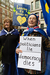 © Licensed to London News Pictures. 08/01/2020. London, UK. Pro European supporters outside the London School of Economics (LSE) where EU Commission President, Ursula von der Leyen delivered a speech about building a future for the EU-UK partnership after Brexit. Photo credit: Vickie Flores/LNP