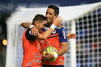 joie Anthony MOUNIER / Lucas BARRIOS  - 24.01.2015 - Montpellier / Nantes  - 22eme journee de Ligue1<br />Photo : Nicolas Guyonnet / Icon Sport