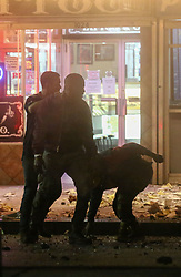 """*PREMIUM EXCLUSIVE* Jamie Foxx and Joseph Gordon-Levitt are thrown from an exploding building as they shoot an action scene together for the first time for their new Netflix movie 'Power'. Foxx could be seen with blood on his had as he was being dragged out of a building by Joseph Gordon-Levitt who plays a cop. In this scene, there is a huge explosion which rocks the building causing the two to go flying and hit the ground. In one shot, a severed limb could be seen dangling above Josephs head before dropping to the ground. Gordon-Levitt's character could be seen wearing an NFL """"Saints' shirt with number 37 'Gleason'. this was a salute to former New Orleans Saints Safety player Steve Gleason. Gleason is especially well known for his blocked punt in a 2006 game that became a symbol of recovery in New Orleans in the team's first home game after Hurricane Katrina. In 2011, he revealed that he was battling amyotrophic lateral sclerosis (ALS), commonly known as Lou Gehrig's disease. His experiences while living with the disease were captured on video over the course of a five-year period and are featured in the 2016 documentary, Gleason. The movie has been kept under wraps with very little information leaked. It is however thought to be a sci-fi movie about a drug epidemic that gives people a range of superpowers. The protagonist is believed to be a teenage actress who finds herself dealing the drug to help care for her family. Sources say Foxx will play a family man who has suffered a great loss and is desperate to trace the drug's supply line and find its designer. Joseph Gordon-Levitt also stars along side Foxx and is said to play a beat cop who takes law enforcement matters into his own hands. 25 Oct 2018 Pictured: Joseph Gordon-Levitt, Jamie Foxx, Dominique Fishback. Photo credit: MEGA TheMegaAgency.com +1 888 505 6342"""