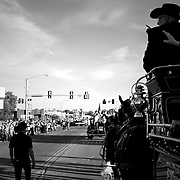 Sharon waves to parade spectators who are standing near where the car hit the crowd last year during the homecoming parade in Stillwater, Oklahoma, Saturday, Oct. 29, 2016. Kurt Steiss/O'Colly