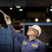 Koblenz, Germany 7 October 2014<br /> Aluminium factory.<br /> Photo: Ezequiel Scagnetti