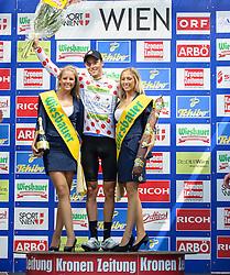 08.07.2012, Universitaetsring, Wien, AUT, 64. Oesterreich Rundfahrt, 8. Etappe, Podersdorf am Neusiedler See - Wien, im Bild Georg Preidler (AUT, Sieger Gesamt Bergwertung Team Type 1 - Sanofi) // winner overall mountain judging Team Type 1 - Sanofi driver Georg Preidler of Austria during the 64th Tour of Austria, Stage 8, from Podersdorf/Neusiedlersee to Vienna, Vienna, Austria on 20120708, EXPA Pictures © 2012, PhotoCredit: EXPA/ M. Gruber