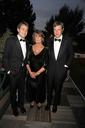 Left to right, BEN GOLDSMITH, LADY ANNABEL GOLDSMITH and ZAC GOLDSMITH at the Royal Parks Foundation Summer Party hosted by Candy & Candy on the banks of the Serpentine, Hyde Park, London on 10th September 2008.