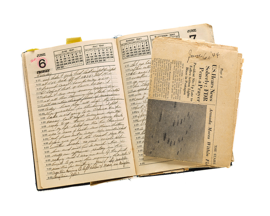 Diary entry for June 6th, 1944…D-Day.