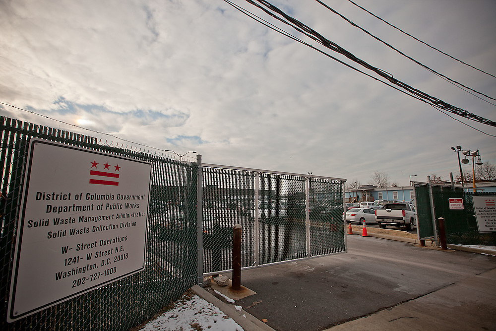 Washington, Dec. 20, 2010 - DPW parking lot at 1241 W St. NE in Washington. (Photo by Jay Westcott/TBD)