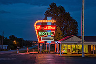 USA; Midwest; Missouri; Route 66; Springfield,American Dreamscapes Hunger Moss Motel