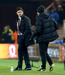 Middlesbrough manager Aitor Karanka speaks with the fourth official - Mandatory by-line: Robbie Stephenson/JMP - 05/12/2016 - FOOTBALL - Riverside Stadium - Middlesbrough, England - Middlesbrough v Hull City - Premier League