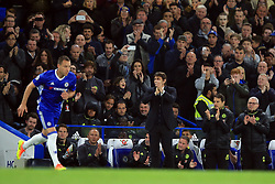 8 May 2017 - Premier League - Chelsea v Middlesbrough - Antonio Conte manager of Chelsea leads the applause as John Terry comes on as a substitute - Photo: Marc Atkins / Offside.