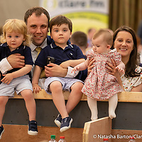 Cathal Crowe with his children Charlie, Sam and Eve and Maeve