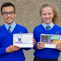 Cian McInerney and  Hannah Haggag with their Jessies Project a school Calendar
