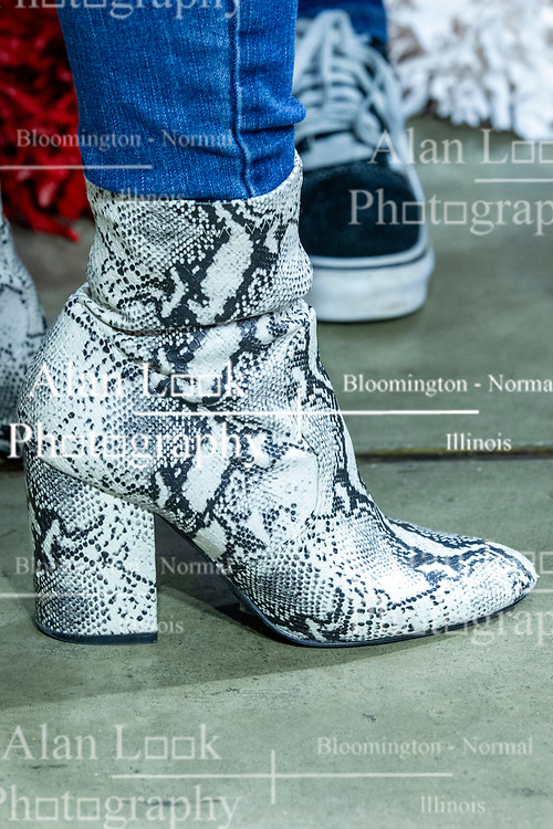NORMAL, IL - February 26: Alligator boots during a college basketball game between the ISU Redbirds and the Bradley Braves on February 26 2020 at Redbird Arena in Normal, IL. (Photo by Alan Look)