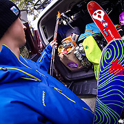 Tyler Hatcher packs the truck to head to Mount Baker for a skiing session with photographer Jay Goodrich.