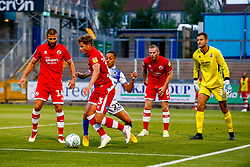 Kyle Bennett of Bristol Rovers challenges Josh Doherty of Crawley Town for the ball in the box  - Mandatory by-line: Ryan Hiscott/JMP - 14/08/2018 - FOOTBALL - Memorial Stadium - Bristol, England - Bristol Rovers v Crawley Town - Carabao Cup
